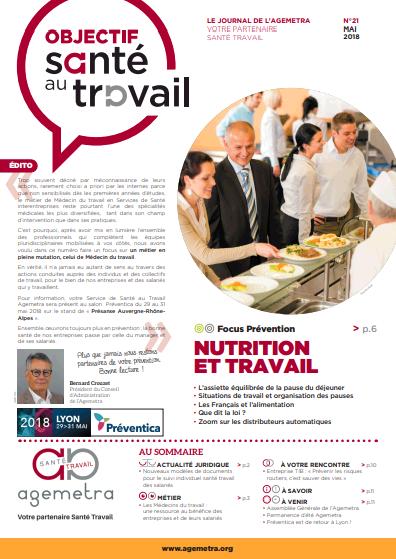 Jornal objectif santé travail agemetra