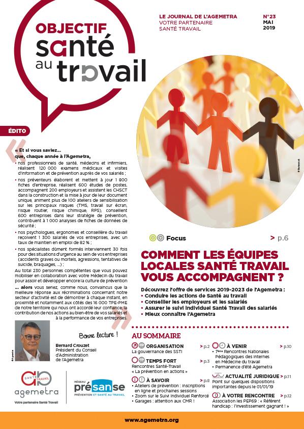 Journal objectif santé travail du mois de mai 2019